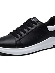Femme Chaussures Cuir Nappa Tulle Automne Hiver Confort Basket Bout rond Lacet Pour Blanc Noir Rose et blanc Noir/blanc Blanc et vert