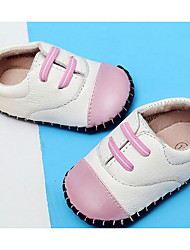 Baby Shoes Real Leather Fall Winter Comfort First Walkers Flats For Casual Burgundy Light Pink Black/White