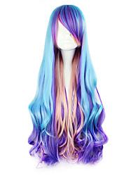 Недорогие -Парики для Лолиты Панк Синий Парики для Лолиты 32 дюймовый Косплэй парики Пэчворк Парики Хэллоуин парики