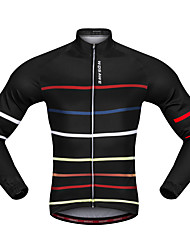 cheap -WOSAWE Cycling Jersey Unisex Long Sleeves Bike Jersey Top Breathability Polyester Classic Autumn/Fall Spring Mountain Cycling Road