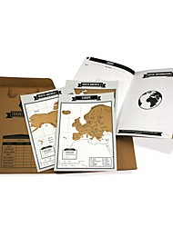 Travelogue map Scratch Map Travel log tourist maps Notebook Best Travel Gift with Mini World Map