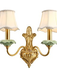 cheap -Uplight Wall Sconces 10W AC 110-120 AC 220-240V E14 Minimalist Ethnic Oriental Brass For