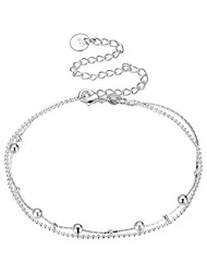 cheap -Women's Anklet/Bracelet Silver Plated Simple Basic Sexy Sweet Hiphop Elegant Geometric Irregular Jewelry For Gift Date