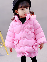 cheap -Girls' Solid Down & Cotton Padded Winter Red Blushing Pink Purple Light Green Fuchsia