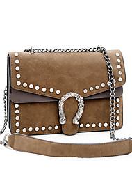 cheap -Women Bags PU Crossbody Bag Zipper for Casual Outdoor All Seasons Black Gray Brown
