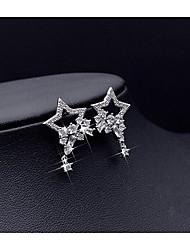 cheap -Women's Star Stud Earrings - Silver Star Earrings For Wedding Party