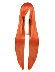 economico -Donna Molto lungo Kinky liscia Arancione Manga Parrucca Cosplay Parrucca per travestimenti