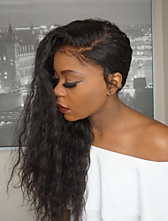 cheap -Women Human Hair Lace Wig Burmese Human Hair Glueless Full Lace 150% Density With Baby Hair Natural Wave Wig Black Long Natural Hairline