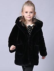 cheap -Faux Fur Wedding Party / Evening Kids' Wraps With Cap Coats / Jackets