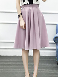 cheap -Women's Going out Knee-length Skirts Pencil Solid Summer