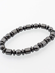 cheap -Men's Women's Drop Strand Bracelet - Natural Fashion Simple Style Circle Black Bracelet For Daily Casual Street