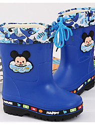Boys' Shoes PVC Leather Spring Fall Rain Boots Boots For Casual Blushing Pink Dark Blue