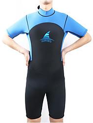 Per uomo Asciugatura rapida Zip impermeabile Spandez Scafandro Mezza manica Top Pantaloni-Nuoto Spiaggia Autunno Primavera Tinta unita