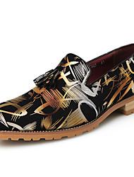 Homme Chaussures Synthétique Automne Hiver Chaussures formelles Mocassins et Chaussons+D6148 Pour Décontracté Soirée & Evénement Or Argent