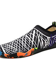 cheap -Women's Shoes Tulle Spring Fall Comfort Athletic Shoes Water Shoes Flat Heel Round Toe For Casual Black/Blue Black/Green Black/Red