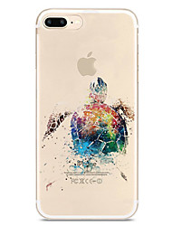 Case For Apple iPhone X iPhone 8 iPhone 8 Plus Ultra-thin Transparent Pattern Back Cover Animal Soft TPU for iPhone X iPhone 8 Plus