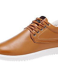 cheap -Men's Shoes Leather Winter Comfort Sneakers Lace-up for Casual White Black Blue Khaki