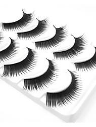 baratos -5 Maquiagem para o Dia A Dia Tiras Completas de Cílios Grossa A extremidade é mais longa Acessórios para Maquiagem Alta qualidade Diário