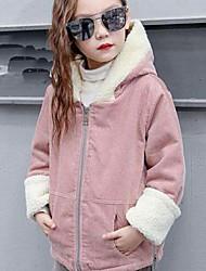cheap -Girls' Solid Suit & Blazer,Cotton Acrylic Winter Fall Long Sleeve Blushing Pink Dark Gray