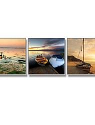 economico -Romanticismo Paesaggio Pitture ad olio con cornice Decorazioni da parete,Acciaio Materiale con cornice For Decorazioni per la casa Cornice