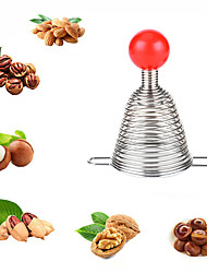 cheap -Metal Spring Nutcracker Open Walnut Artifact Stainless Steel Nut Crackers Opener