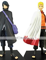 cheap -2PCS Uzumaki Naruto 16CM Uchiha Sasuke  PVC Anime Action Figures Doll Toys