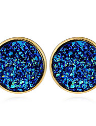 Women's Stud Earrings Hoop Earrings Geometric Fashion Resin Alloy Jewelry For Casual Street