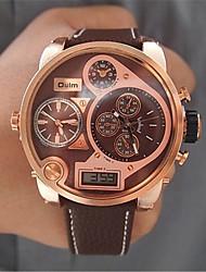 preiswerte -Herrn Kleideruhr Modeuhr Armbanduhr Quartz Leder Band