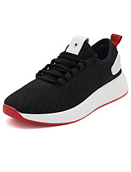 cheap -Women's Shoes Net Spring Fall Comfort Light Soles Sneakers Round Toe Lace-up For Casual Outdoor Black White