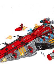abordables -Bloques de Construcción Cohete y nave espacial De Combate Juguetes Astronave Militar Niños 1472 Piezas