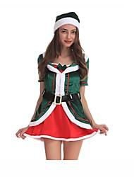 Princesse Costumes de père noël Costumes de Cosplay Articles pour Célébrer Noël Féminin Noël Halloween Carnaval Nouvel an Fête /
