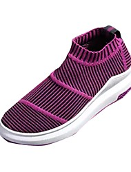 cheap -Women's Shoes Breathable Mesh Spring Fall Comfort Athletic Shoes Running Shoes Flat Heel Round Toe For Athletic Casual Purple Gray Black