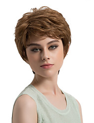 cheap -Women Synthetic Wig Capless Short Straight Light Brown Side Part Layered Haircut Natural Wigs Costume Wig