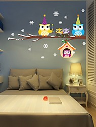 cheap -Animals Christmas Holiday Wall Stickers Plane Wall Stickers Decorative Wall Stickers,Vinyl Material Home Decoration Wall Decal