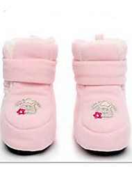 Baby Shoes Fleece Fall Winter Comfort First Walkers Flats For Casual Light Blue Blushing Pink Gray