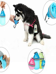 Недорогие -Миски и бутылки с водой Животные Чаши и откорма Компактность Лиловый Зеленый Синий
