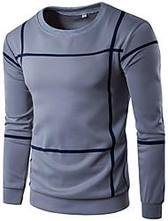 preiswerte -Herren Pullover Übergröße Sport Festtage Lässig/Alltäglich Einfach Gestreift Streife überdimensional Rundhalsausschnitt Mikro-elastisch