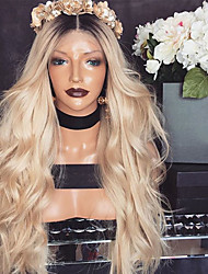 cheap -Women Synthetic Wig Lace Front Long Body Wave Blonde Middle Part Natural Wigs Costume Wig