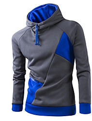cheap -Men's Daily Casual Hoodie Color Block Hooded Micro-elastic Cotton Long Sleeve Winter Spring Fall