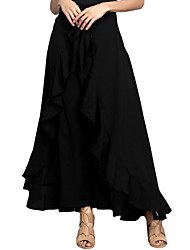 cheap -Women's Club Holiday Maxi Skirts,Sexy Trumpet/Mermaid Solid Fall