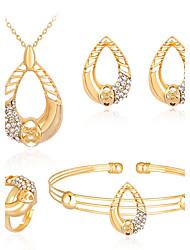 preiswerte -Damen Zirkon / Rose Gold überzogen Kugel Schmuck-Set Armband / Ohrringe / Halsketten - Bling Bling / Modisch Gold Für Party