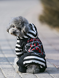 cheap -Dog Coat Hoodie Jumpsuit Jersey Dog Clothes Casual/Daily Keep Warm Sports Geometic Gray Black Costume For Pets