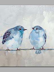 Недорогие -Hang-роспись маслом Ручная роспись - Животные Современный холст