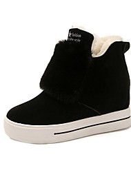 Women's Shoes Suede Fall Fashion Boots Boots Low Heel Round Toe For Casual Brown Black