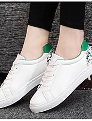 baratos -Mulheres Sapatos Malha Respirável / Couro Ecológico Primavera / Outono Conforto Tênis Salto Robusto Botas Curtas / Ankle para Rosa e