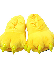 cheap -Adults' Kigurumi Pajamas Slippers Pika Pika Onesie Pajamas Polyester Cotton Yellow Cosplay For Men and Women Animal Sleepwear Cartoon Halloween Festival / Holiday