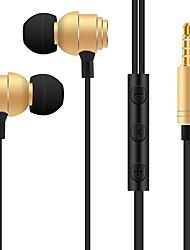 abordables -s810 en el oído auriculares con cable dinámico de plástico auricular del teléfono móvil ruido-aislamiento con micrófono auriculares