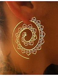 cheap -Women's Hoop Earrings Jewelry Alloy Jewelry Gold Silver Daily Going out Costume Jewelry