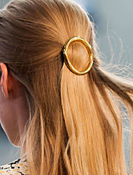 cheap -Women's Alloy Hair Clip,Metallic Casual Spring/Fall All Seasons Gold