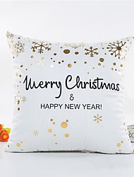 cheap -1 pcs Others Pillow Cover, Word / Phrase Snowflake Style Christmas